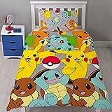 Pokémon Catch UK Single/US Twin Rotary Duvet Cover and Pillowcase Set