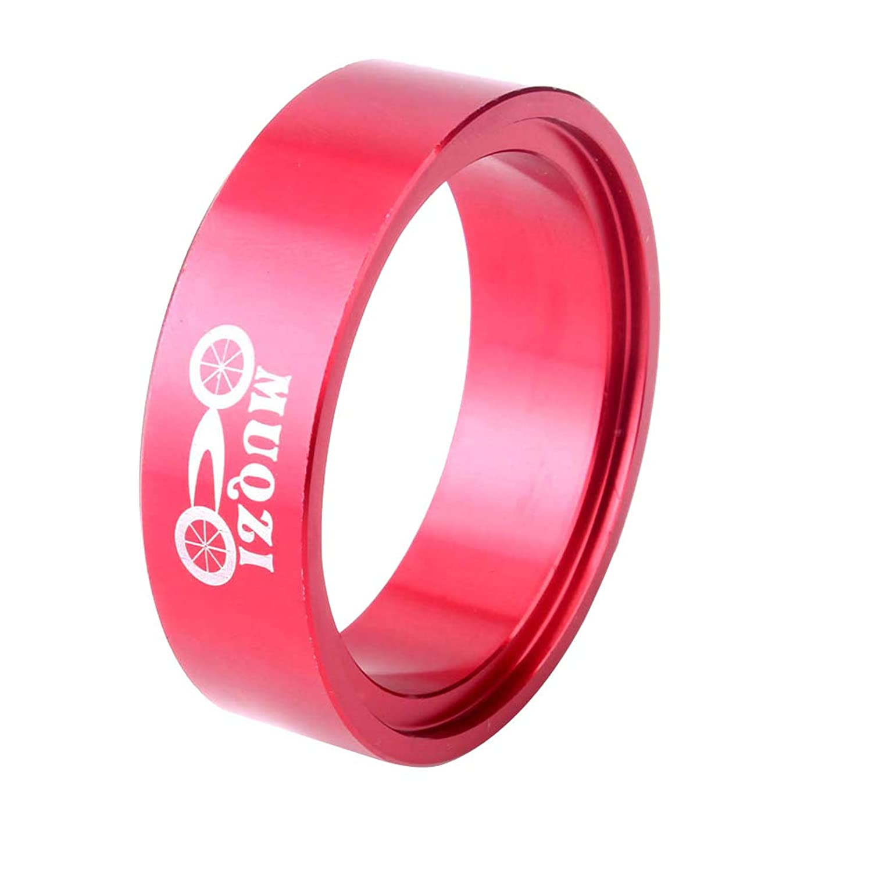 LIOOBO コニカルヘッドチューブ(赤)と55ミリメートル44ミリメートル自転車フレームボウルグループコンバータ
