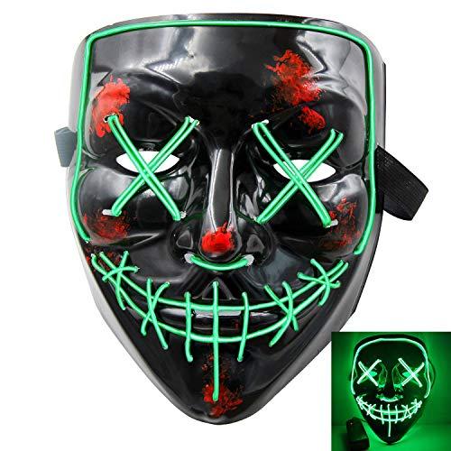 heytech Halloween Scary Mask Cosplay Led...