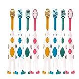 8 Packs Kids Toothbrush, Extra Soft Lovely Little Deer Toothbrush for Kids 2-8 Years (Pink&Orange&Blue&Green)
