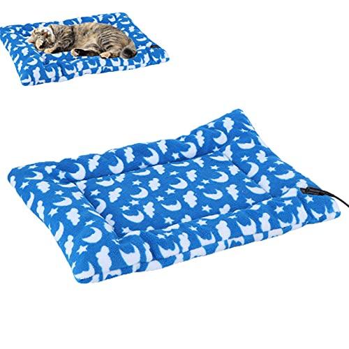 Eosnow Manta calefactora para Cachorros, Alfombrilla calentadora para Cachorros Conector USB Calentamiento rápido y Uniforme para Mascotas bebés(35 * 45)