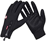 COTOP Outdoor Windproof Work Cycling Hunting Climbing Sport Smartphone Touchscreen Gloves for Gardening, Builders, Mechanic(Black, L)
