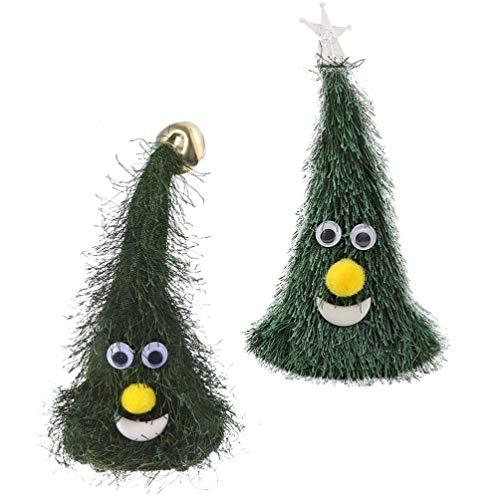 VOSAREA 2 Pezzi di Albero di Natale Danzante Tintinnio di Campane Che Canta E Balla Albero di Natale per Decorazioni Natalizie E Regalo per Bambini