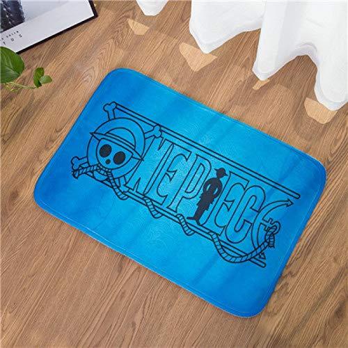 WWWL Felpudos Anime de una pieza Luffy Alfombra para el piso de la puerta, alfombra de la cama, sala de estar, cocina, al aire libre, piso de mesa, antideslizante, regalo 40 x 60 cm Style5