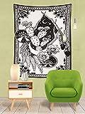 JXWR Tarot Indian Mandala Tapiz de Pared Bohemia Tapis Tapiz de brujería 150x130
