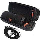 Tasche für JBL Charge 3 Tragbarer/JBL Pulse 4 Bluetooth-Lautsprecher und Kabel + Zubehör - Schwarz