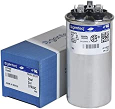 GE Genteq Capacitor round 35/3 uf MFD 370 volt 97F9472 (replaces old GE# 97F9472BZ2 & Z97F9472), 35 + 3 MFD at 370 volts