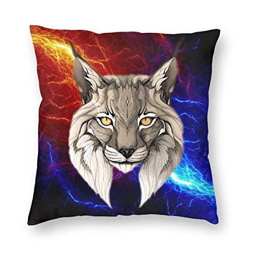 VJSDIUD Funda de Almohada Fundas de Microfibra de Lobo o Gato Funda de Almohada estándar para Hombres, Mujeres, hogar, Exterior, Decorativo, sofá Cama, 18 'x18'