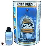 Resina de poliéster líquida transparente bicomponente para barcos moldes de...