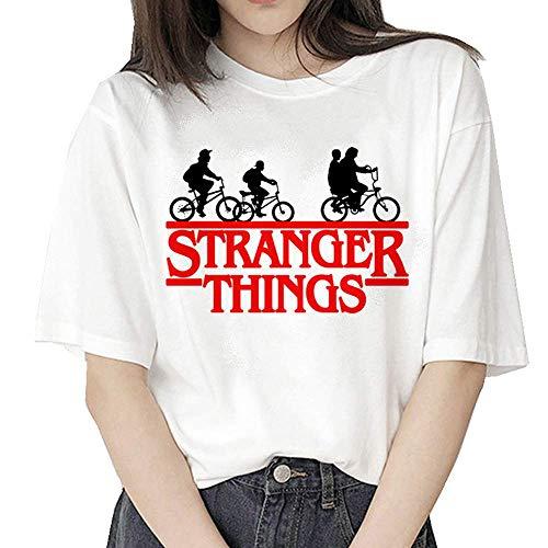 Camiseta Stranger Things Niña, Mujer Cómodo Transpirable