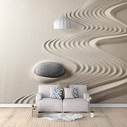 Mural Papel Tapiz Fotográfico Personalizado Estilo Moderno 3D Piedra Zen De Pared Grande Adecuado Para Dormitorio Hotel Tv Sofá Fondo Decoración,300Cm(W) X210Cm(H)-6 Rayas