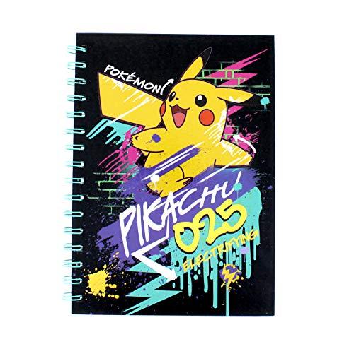 Pokemon A5 Notizbuch | Graffiti Design | Spiralbindung | Notizblock | Schulbedarf | Jungen Geschenke | liniertes Papier | Schreibblock | liniertes Papier | cooles Material | Schreibwaren