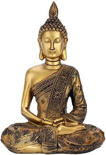 Optyuwah Buddha Zen-Garten Buddha Figur - Buddhafigur aus Polyresin Skulptur Buddha-Statue 20x13.5x8cm, meditierend Buddhismus Dekoration für Wohnung - Amithaba sitzend,Meditation Entspannen (B)