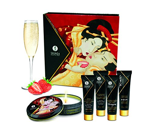 Shunga Geishas Secret Collection Strawberry Aceite de Masaje - 1 Pack