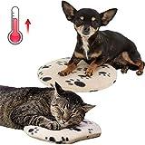 Jannyshop-123 Almohadilla Térmica para Mascotas Eléctrica Resistente Mordeduras Almohadilla Térmica Portátil para Microondas con Cubierta de Repuesto para Gatos Cachorros
