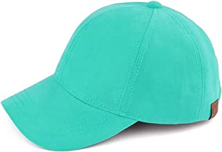 Funky Junque Womens Baseball Cap 6 Panel Solid Adjustable Suede Hat