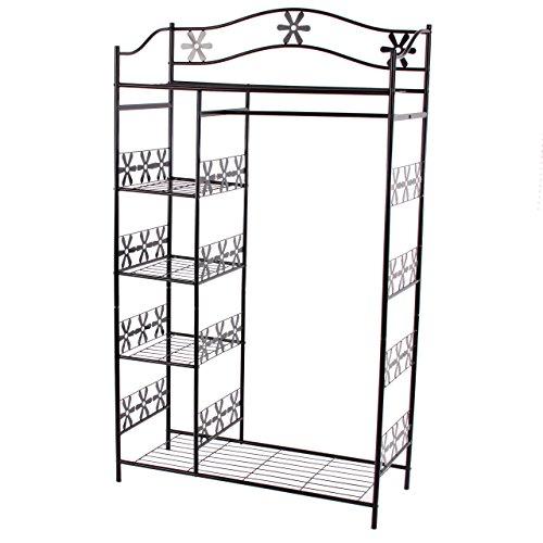Metall-Garderobe Genf, Garderobenständer Kleiderschrank Metallregal 172x100x43cm - ohne Vorhang
