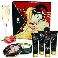 Shunga Geishas Secret Collection Strawberry Aceite de Masaje - 1 Pack