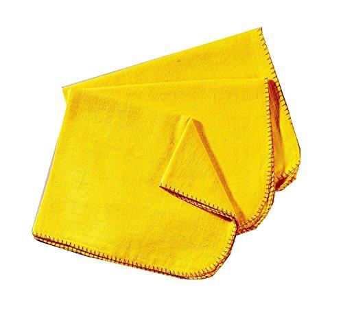 Rochley Staubtuch, aus Baumwolle, Gelb, 6 Stück, hochwertig
