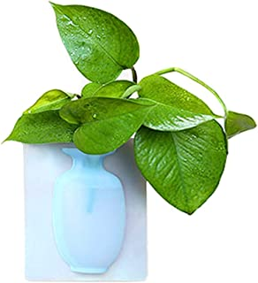 Reusable Magic Soft Silicone Leaves Bottle Sticker Vase Body for Glass Wall Flower Pots Eco-Friendly Vase Decor