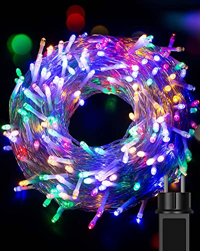 Litogo Catena Luminosa, 32M 320LED Luci Albero di Natale 8 Modalità Lucine LED Decorative Impermeabile Stringa Luci per Esterno Interno Camera Giardino Patio Festa Nozze Compleanno Natale-Multicolore