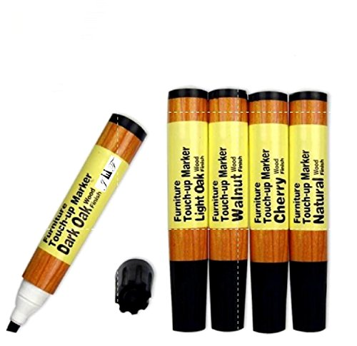 Furniture Repair � Touch up Markers - Scratch Restore & Repair Touch-Up Kit System. For Stains, Scratches, Wood Floors, Tables, Desks, Carpenters, Bedposts Felt Tip Markers (5 PC Furniture Repair)