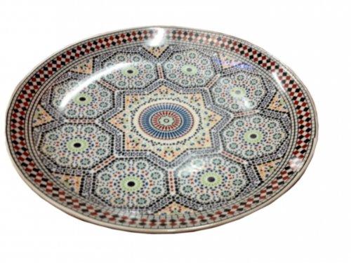 Saharashop Orientalischer Servierteller Ø 30cm Mosaik