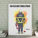 Feuerwehrmann Memory Poster | Individuelle Plakat
