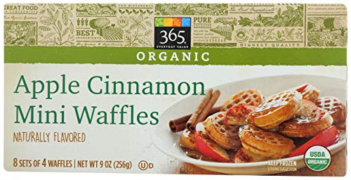 365 Everyday Value, Organic Apple Cinnamon Mini Waffles, 32 ct, (Frozen)