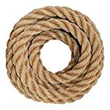 SGT KNOTS Twisted ProManila - UnManila, Twisted 3-Strand, Lightweight Synthetic Rope for DIY Projects, Marine, Commercial (1/4' x 600ft)