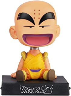Krillin Phone Bracket, Krillin Shaking Head Car Decoration, Dragon Ball Z Home Decoration, Krillin Decor for Home,Car,Party Cake