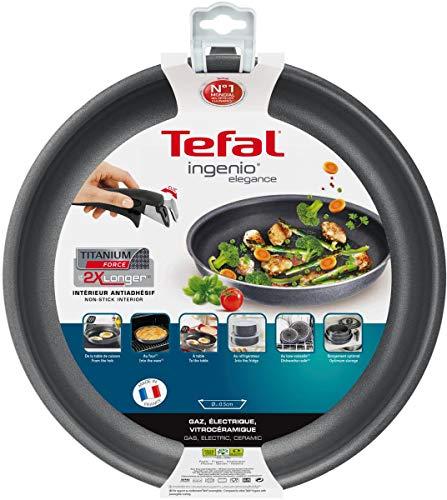 Tefal-L2310402-Ingenio Elegance Poêle 24 cm Gris Pailleté Tous Feux sauf Induction - sans poignée