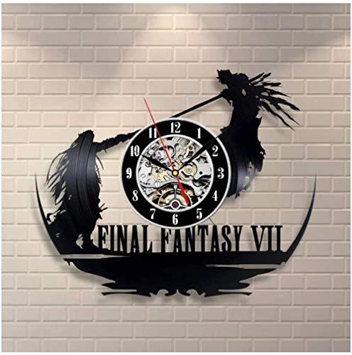 Reloj de pared de vinilo con diseño de personajes de lucha de vinilo para regalo creativo para niños y niñas, adolescentes y amigos, diseño único de arte de vinilo, reloj de pared de 30,48 cm