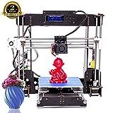 Imprimante 3D A8 Prusa I3 DIY Imprimante 3D de bureau, Impression rapide et de haute précision de modèles 3D (120 mm/s), Imprimante avec ABS/PLA de 1.75 mm (Imprimante 3D A8)-Colorfish