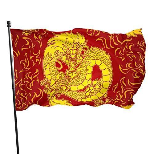 Hao-shop Dragon Asiatique FEU Rouge VIF Couleur bannière décorative intérieure décoration intérieure Signe de la bannière