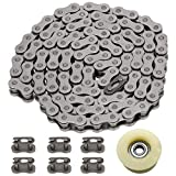 FVRITO 415H Chain 110L Link Heavy Duty and Master Link Chain Tensioner Guide Idler Pulley Roller for 2 stroke 49cc 60cc 66cc 80cc Engines Motorized Bicycle Motor Bikes High Power Racing Parts