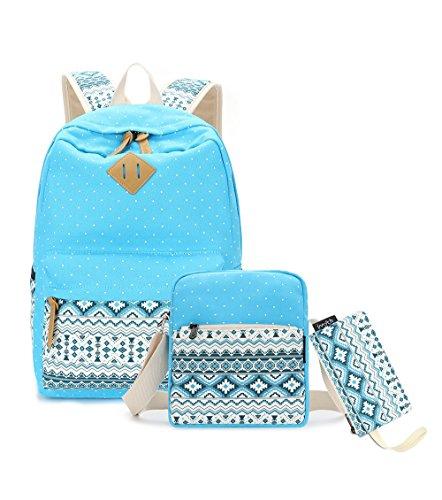 Imyth Upgrade-Segeltuch-Rucksack-Leichter beiläufiger Schulrucksack für jugendlich Mädchen
