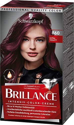 Brillance Intensiv-Color-Creme Haarfarbe 860 Ultraviolett Stufe 3, 3er Pack(3 x 160 ml)