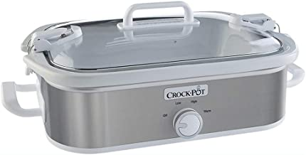 Crock-Pot 3.5 Quart Home Casserole Crock Kitchen Slow Cooker, Stainless Steel
