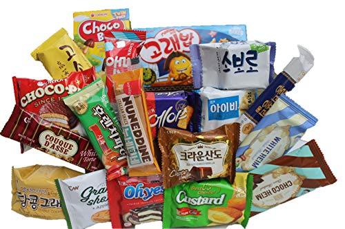 KOREAN PREMIUM SNACK BOX_Assorted Package Popular Deluxe Korean Brand Snacks and More! Perfect for GIFT   College Care Package   Gift Care Package (19 packs)