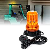 Xprite Amber LED Forklift Beacon Light Safety Warning Strobe Flashing Lights with Cigarette Lighter, for Mower, ATV, Trucks, Tractor, Golf Carts, UTV, Cars, Bus