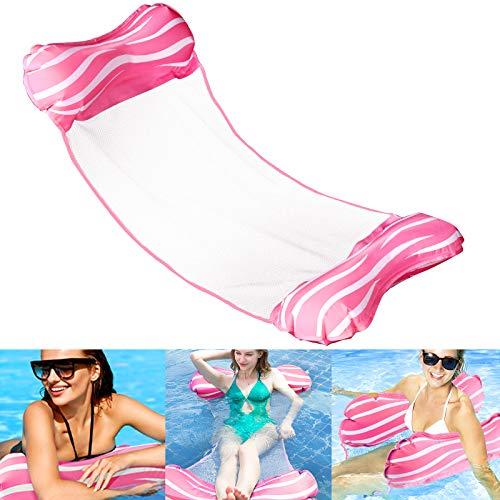 Aiglam Wasser Hängematte, Aufblasbare Hängematte 4-in-1 Luftmatratze Schwimmbad Luft Sofa Schwimmstuhl Bett Drifter Swimmingpool Beach Float für Erwachsene