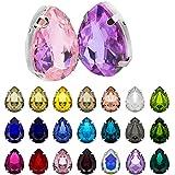 Gwotfy Artesanías de diamantes de imitación, 150 piezas de diamantes de imitación de vidrio Pedrería de colores Artesanías De Gemas De Cristal Piedras preciosas de vidrio para ropa de manualidades DIY