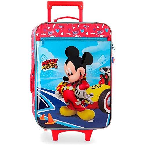 Trolley DA Viaggio Topolino Mickey Mouse Disney Let's Roll SEMIRIGIDO Valigia CM. 50X35X16 - 4569061