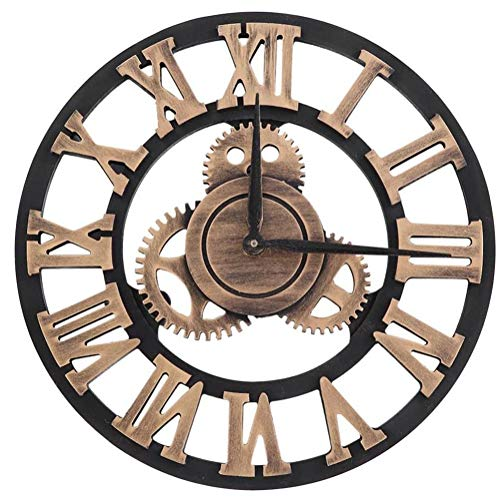 Reloj Reloj de Pared de la Vendimia Hecha a Mano 3D número...