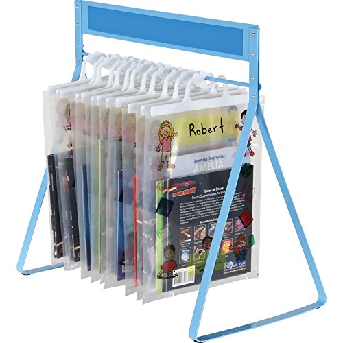 "Really Good Stuff Store More Sturdy Hang-Up Totes Rack, 20""W by 12""D by 20¾'H – Holds Dozens of Tote Bags – Tip-Resistant, Scratch-Resistant Base – Label Contents on Write-On/Wipe-Off Magnetic Bar"