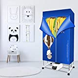 SEAAN Clothes Dryer Portable,Concise Home Foldable Electric Clothes Dryer 1500W-1.7 Meters 3-Tier Large Capacity Remote Control Energy-Efficient Indoor Wet Laundry Warm Air Drying Wardrobe