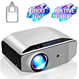 GooDee YG620 Native 1080p Projector 6800 Lux 300' Full HD LCD Video Projector 1920x1080 Home &...