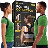Adjustable Posture Corrector for Women and Men – Comfy Strap Shoulder Brace for Neck and Back Pain Relief – Clavicle Trainer Corrects Slouching and Promotes Spine Alignment and Lumbar Support