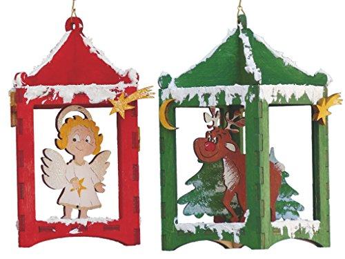 Petra's knutsel-News A-LTH33ER knutselset, 2 lantaarnbouwsets met engel en rendier